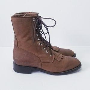 Dan Post Zecuda Western Leather Boots Size 7.5 M
